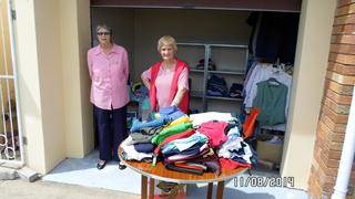 2nd hand clothing were also on sale.