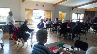 Rev. Louw, one of our Board members presented to our residents a Glasjuweel Workshop